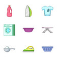 stroke icons set cartoon style vector image vector image