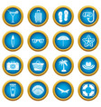 summer rest icons blue circle set vector image vector image