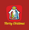 the nativity of jesus christ vector image vector image