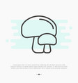 thin line icon of mushrooms champignon vector image vector image