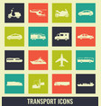 transportation icons set city cars and vehicles vector image vector image