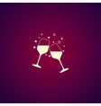 Wine glass icon - vector image vector image
