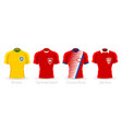 world cup group e team uniform vector image vector image