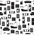Home interior furniture seamless pattern vector image