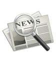 newspaper and magnifying glass vector image