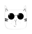 cat with glasses vector image