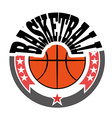 Basketball Badge with Stars vector image vector image