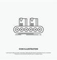 belt box conveyor factory line icon line gray vector image vector image