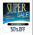 best quality super sale golden retro vintage label vector image vector image