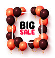 Big sale balloon market frame on white