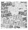 Blackjack vs Poker text background wordcloud vector image vector image