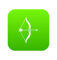 bow and arrow icon digital green vector image