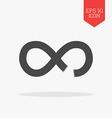 Broken infinity icon Flat design gray color symbol vector image vector image