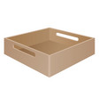 brown tray box with grab handles vector image vector image