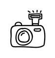 camera photography drawing isolated icon design vector image vector image