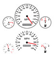 car dashboards with tachometer speedometer vector image