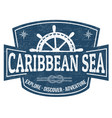 Caribbean sea sign or stamp