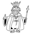 cartoon medieval fantasy king vector image