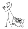 cartoon of bad delivery man or businessman vector image vector image