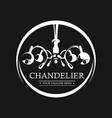 chandelier logo sign lamp branding identity vector image