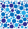 chaotic circle seamless pattern vector image vector image