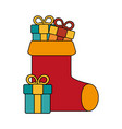 christmas sock design vector image