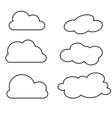 clouds collection thin vector image