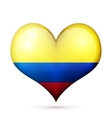 Colombia Heart flag icon vector image