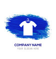 cotton t-shirt icon - blue watercolor background vector image vector image