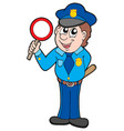 cute policeman with stop sign vector image