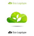 ecology logo or icon in eps nature logotype air vector image