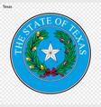 emblem of state vector image
