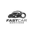 fast car services logo vector image vector image