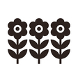 Flowers Symbol vector image vector image