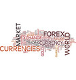 forex market history be a part of it text vector image vector image