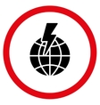 Global Shock Flat Rounded Icon vector image vector image