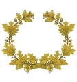 Gold Oak Wreaths vector image vector image