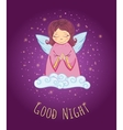 Good Night Angel vector image vector image