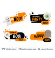 halloween set of badges with editable copy space vector image vector image