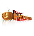 happy halloween day with smile big pumpkin and vector image vector image