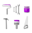 House remodel tools icons set vector image vector image