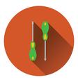 Icon of screwdriver vector image vector image