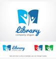 library logo template design vector image