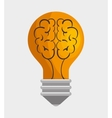 light bulb idea with brain concept icon graphic vector image