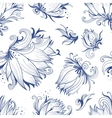 Lotus Sketch Pattern vector image vector image