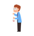 male chemist scientist student character in lab vector image vector image