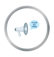 Megaphone advertising icon in cartoon style vector image vector image