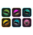 monster planet with giant mouth fantasy cosmic vector image vector image