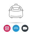 Multicooker icon Kitchen electric device symbol vector image vector image