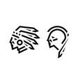 native american logo chief and warrior vector image vector image